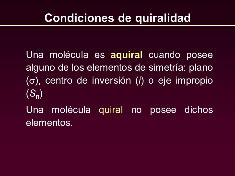 Condiciones de quiralidad
