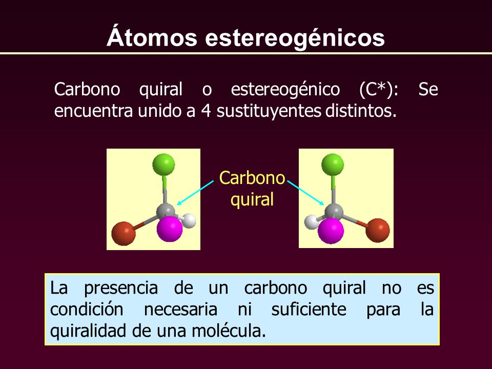 Átomos estereogénicos