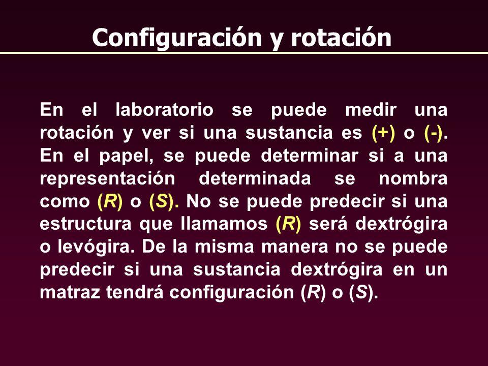 Configuración y rotación