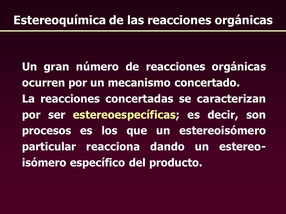 Estereoquímica de las reacciones orgánicas