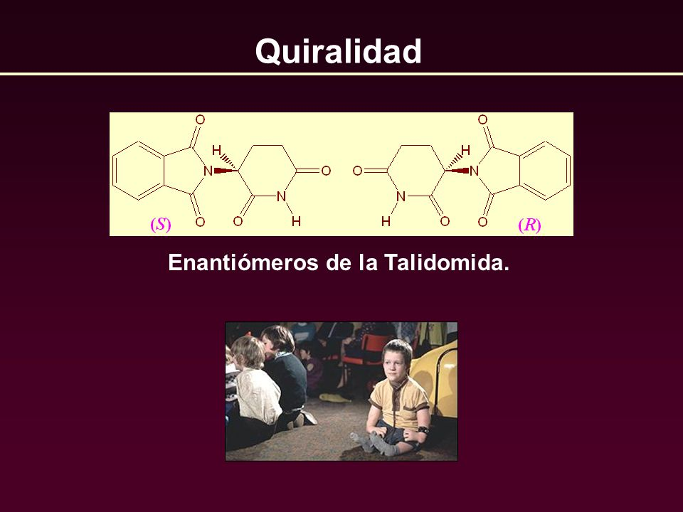 Enantiómeros de la Talidomida.