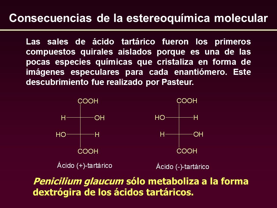 Consecuencias de la estereoquímica molecular