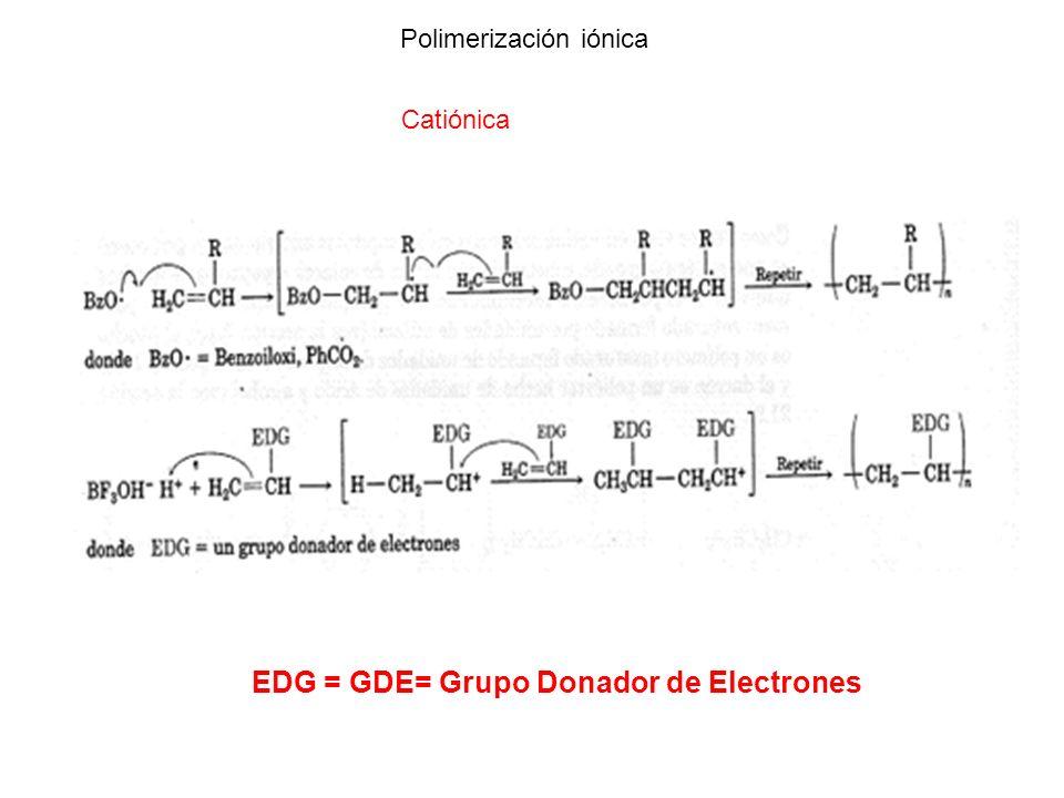 EDG = GDE= Grupo Donador de Electrones