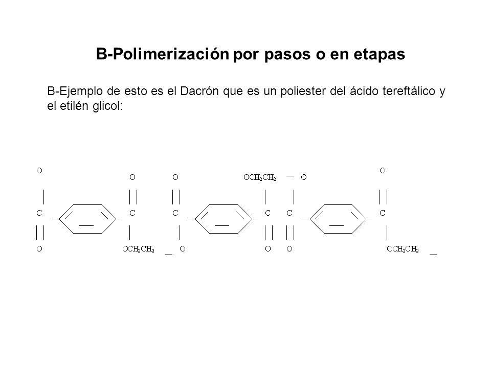 B-Polimerización por pasos o en etapas