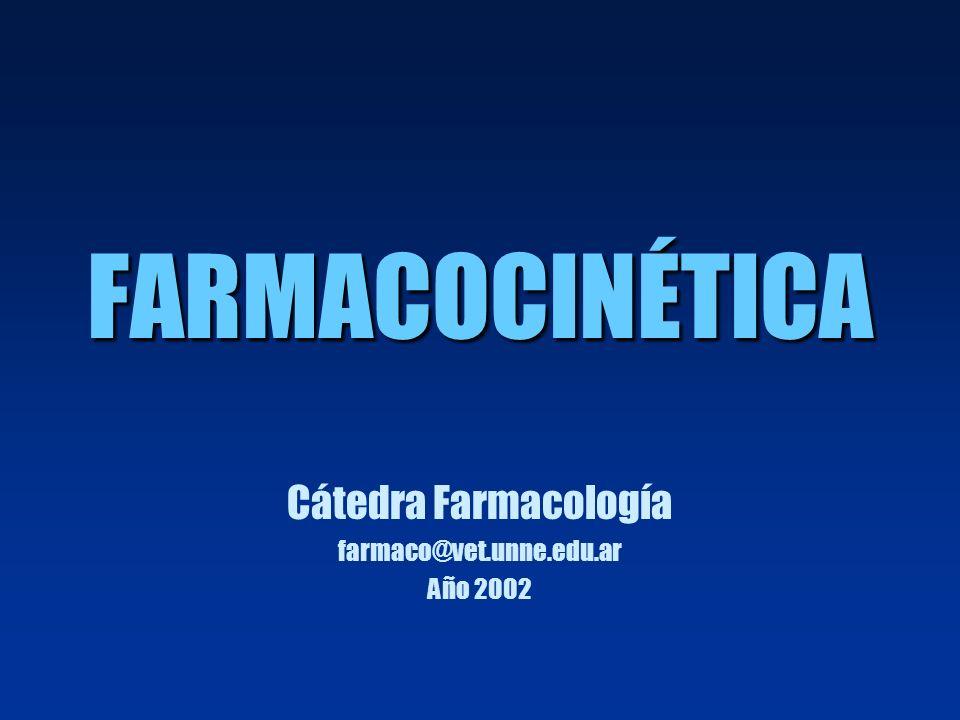 Cátedra Farmacología farmaco@vet.unne.edu.ar Año 2002