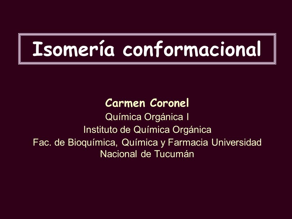 Isomería conformacional