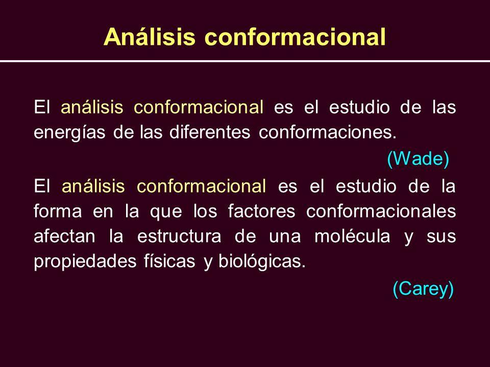 Análisis conformacional