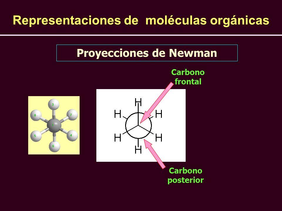 Representaciones de moléculas orgánicas Proyecciones de Newman