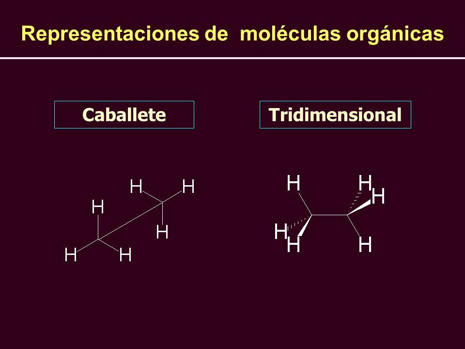 Representaciones de moléculas orgánicas