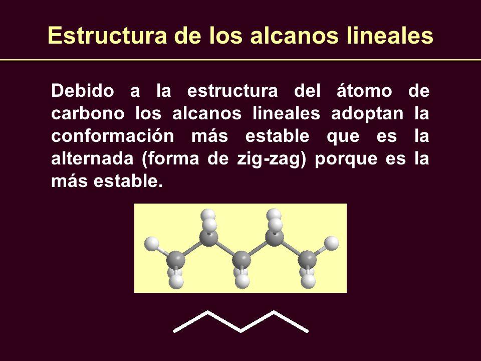 Estructura de los alcanos lineales