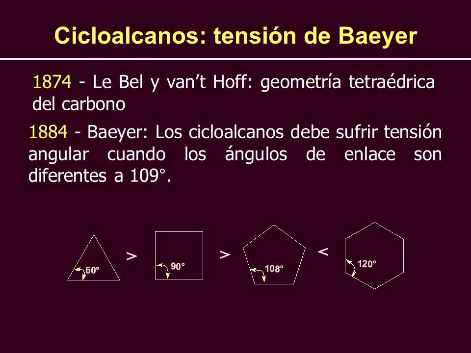 Cicloalcanos: tensión de Baeyer