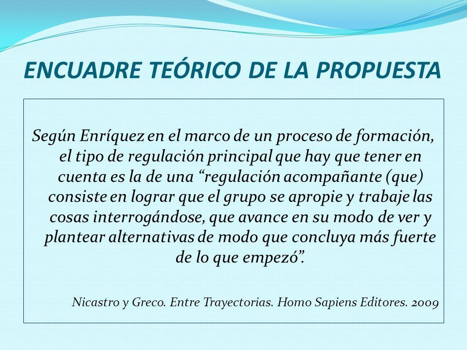 ENCUADRE TEÓRICO DE LA PROPUESTA