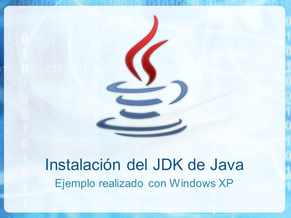 Instalación del JDK de Java