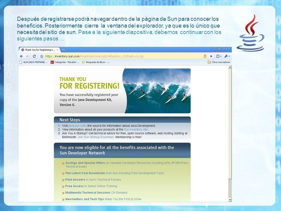 Después de registrarse podrá navegar dentro de la página de Sun para conocer los beneficios.