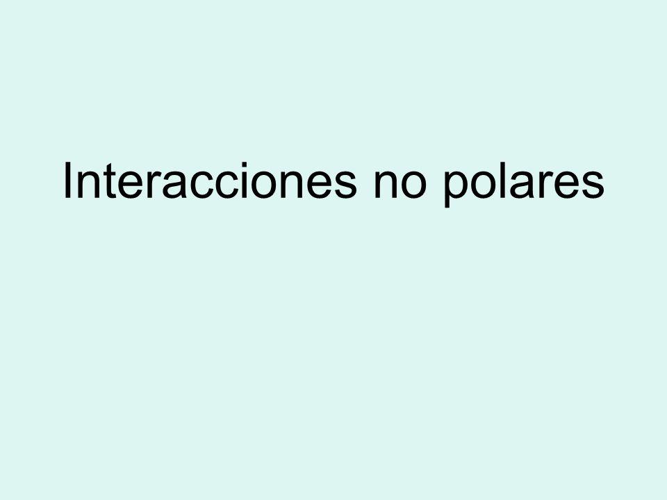 Interacciones no polares