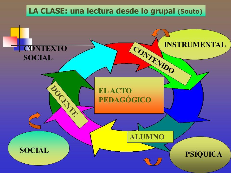 LA CLASE: una lectura desde lo grupal (Souto)
