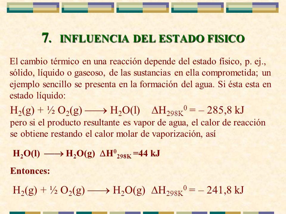 7. INFLUENCIA DEL ESTADO FISICO