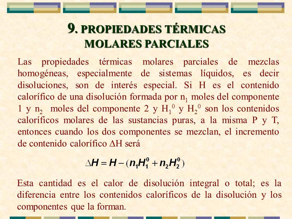 9. PROPIEDADES TÉRMICAS MOLARES PARCIALES