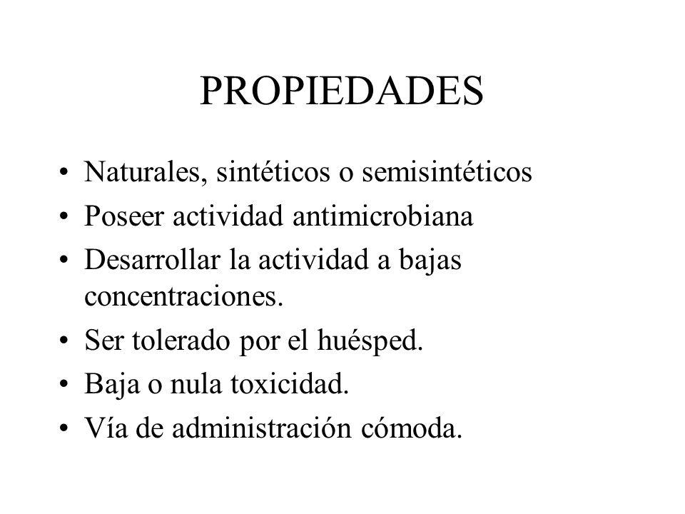 PROPIEDADES Naturales, sintéticos o semisintéticos