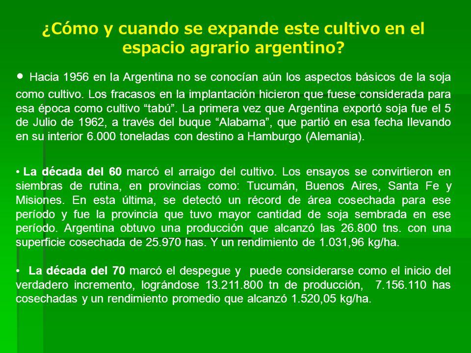 ¿Cómo y cuando se expande este cultivo en el espacio agrario argentino