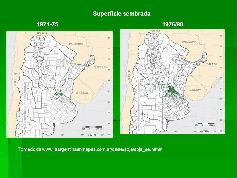 Superficie sembrada 1971-75 1976/80