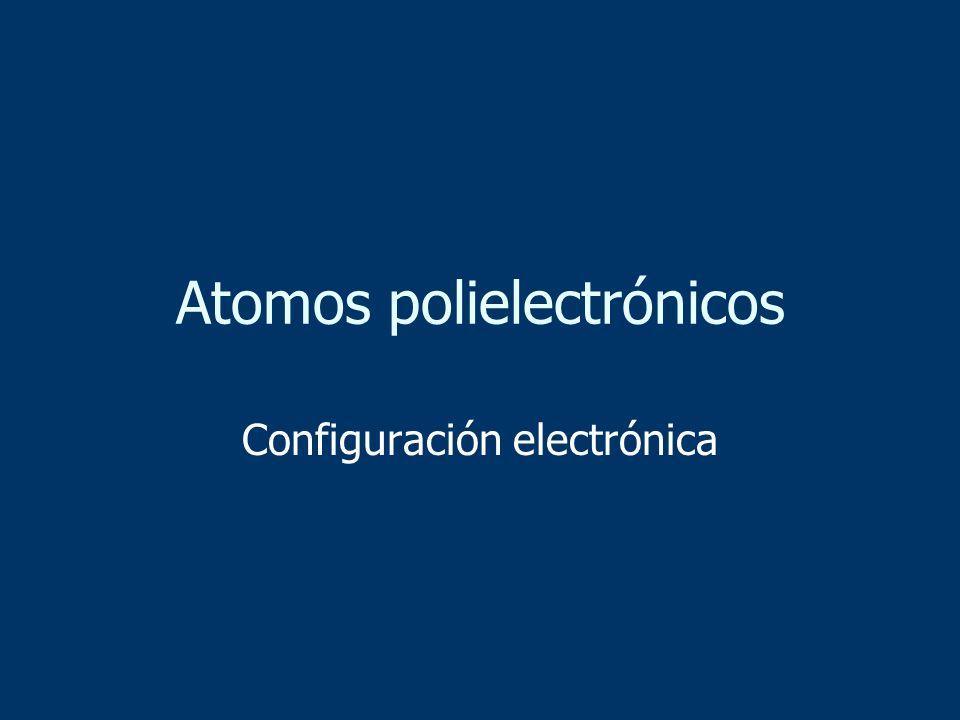 Atomos polielectrónicos