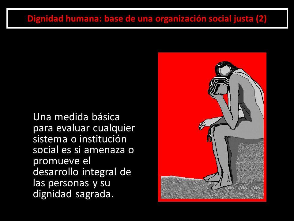 Dignidad humana: base de una organización social justa (2)