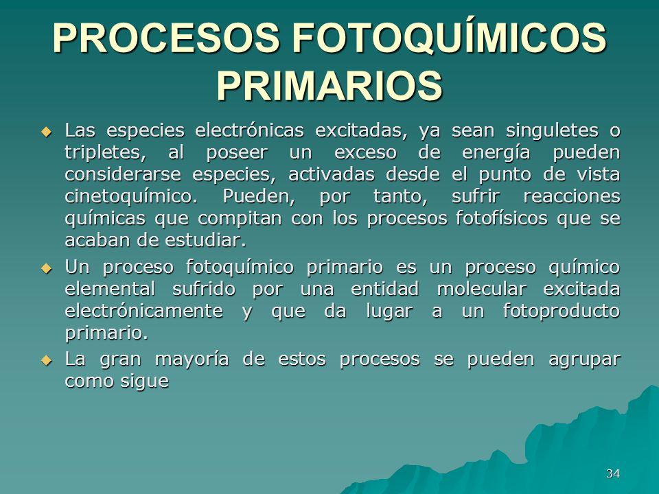 PROCESOS FOTOQUÍMICOS PRIMARIOS