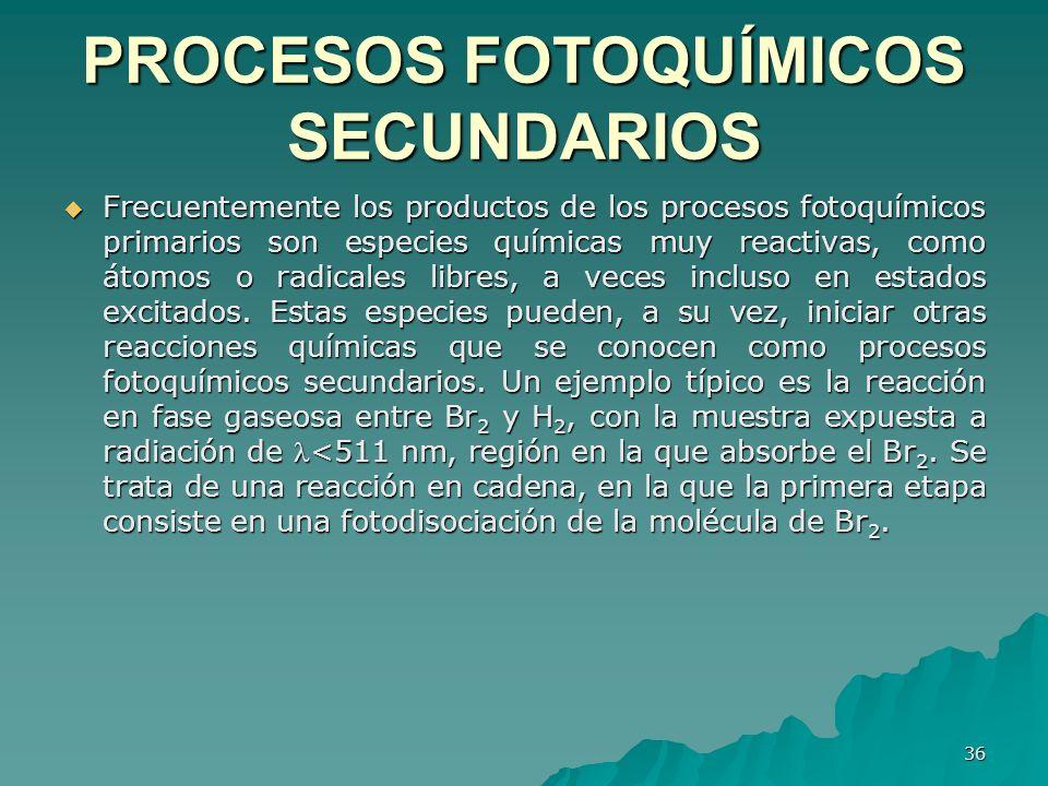 PROCESOS FOTOQUÍMICOS SECUNDARIOS