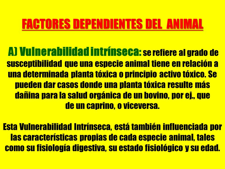 FACTORES DEPENDIENTES DEL ANIMAL