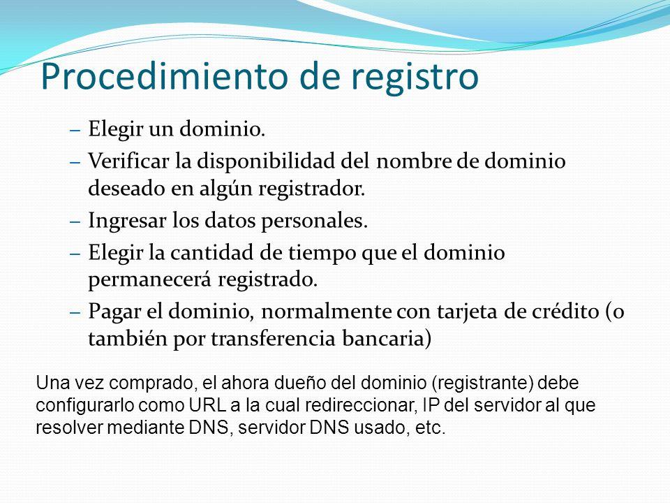 Procedimiento de registro