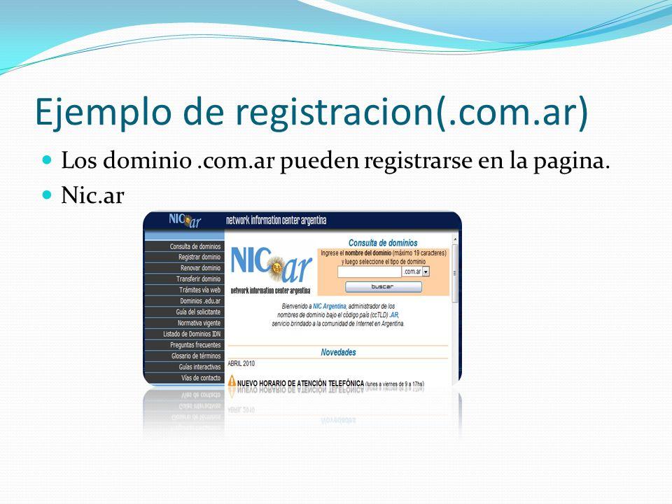 Ejemplo de registracion(.com.ar)