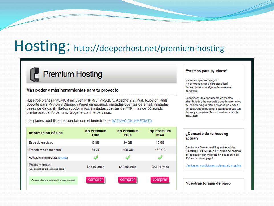 Hosting: http://deeperhost.net/premium-hosting
