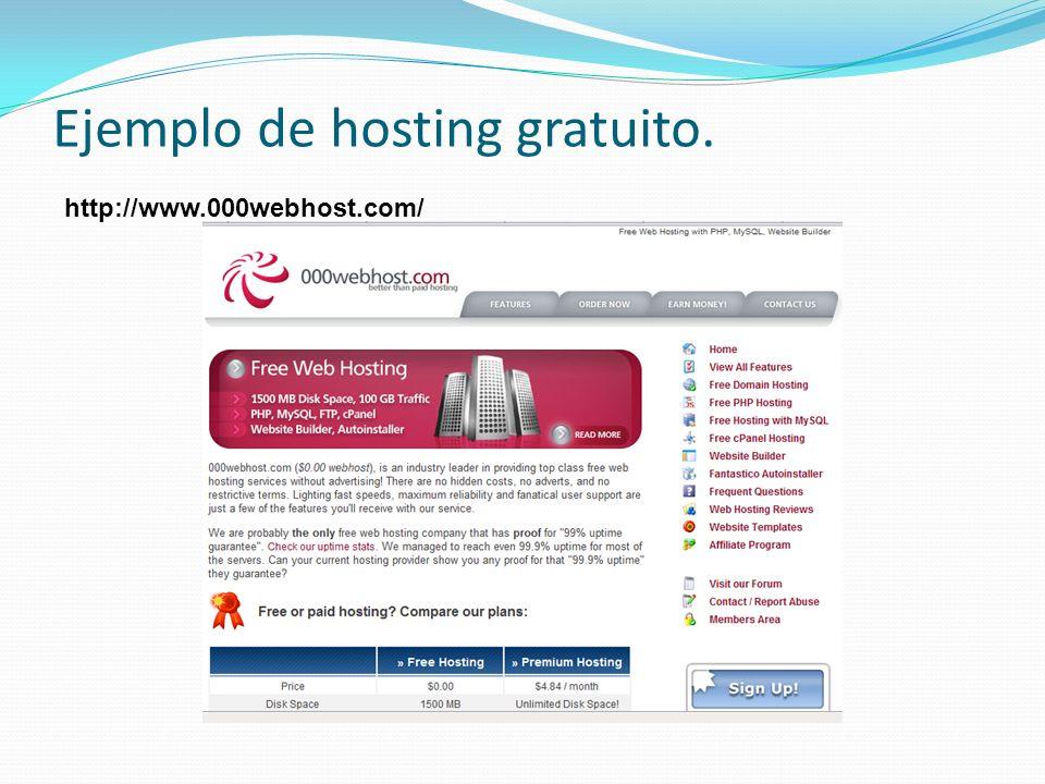 Ejemplo de hosting gratuito.