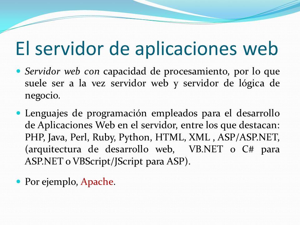 El servidor de aplicaciones web