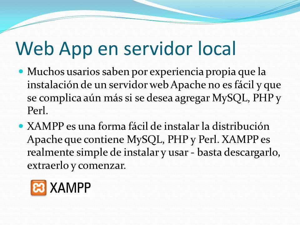 Web App en servidor local