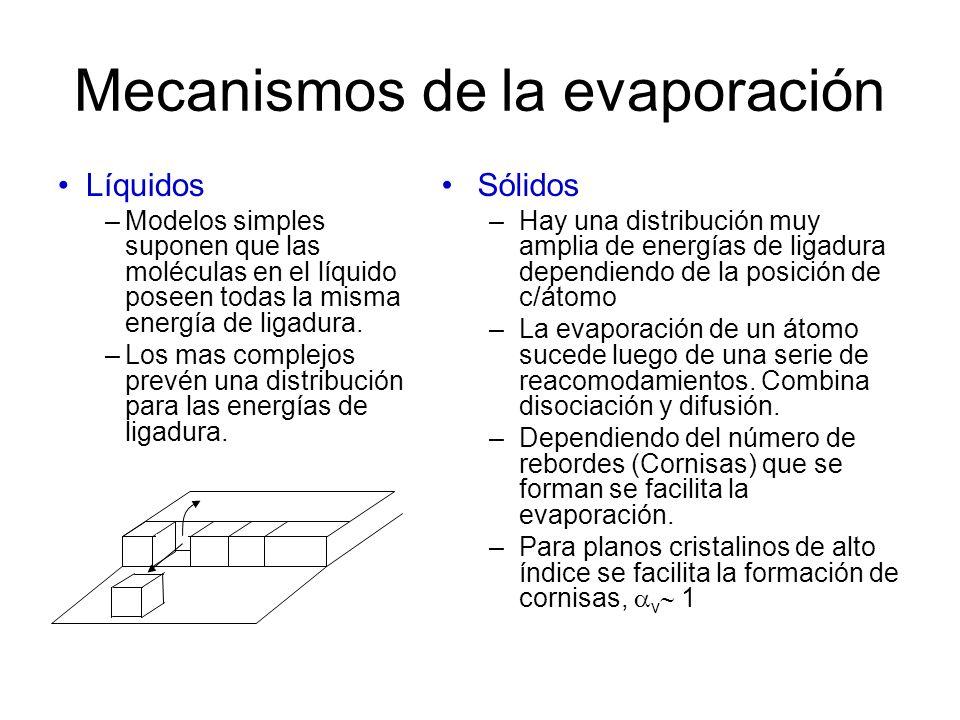 Mecanismos de la evaporación