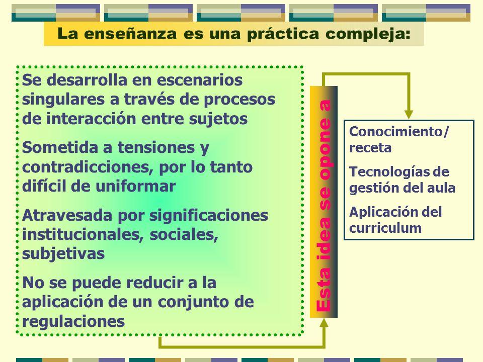 La enseñanza es una práctica compleja: