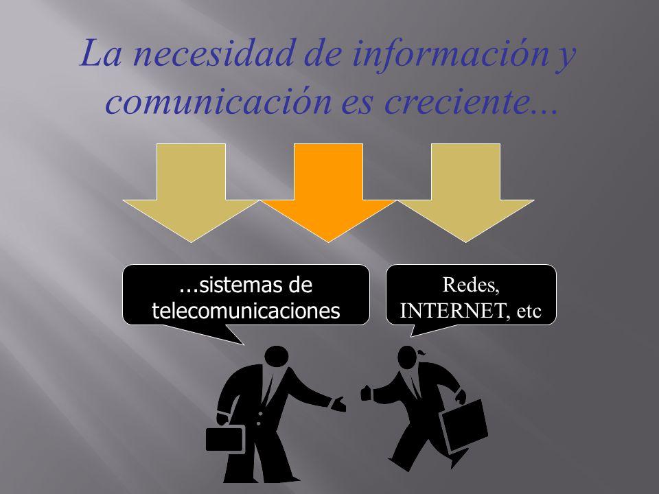 La necesidad de información y comunicación es creciente...