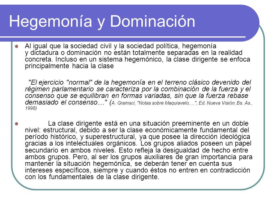Hegemonía y Dominación