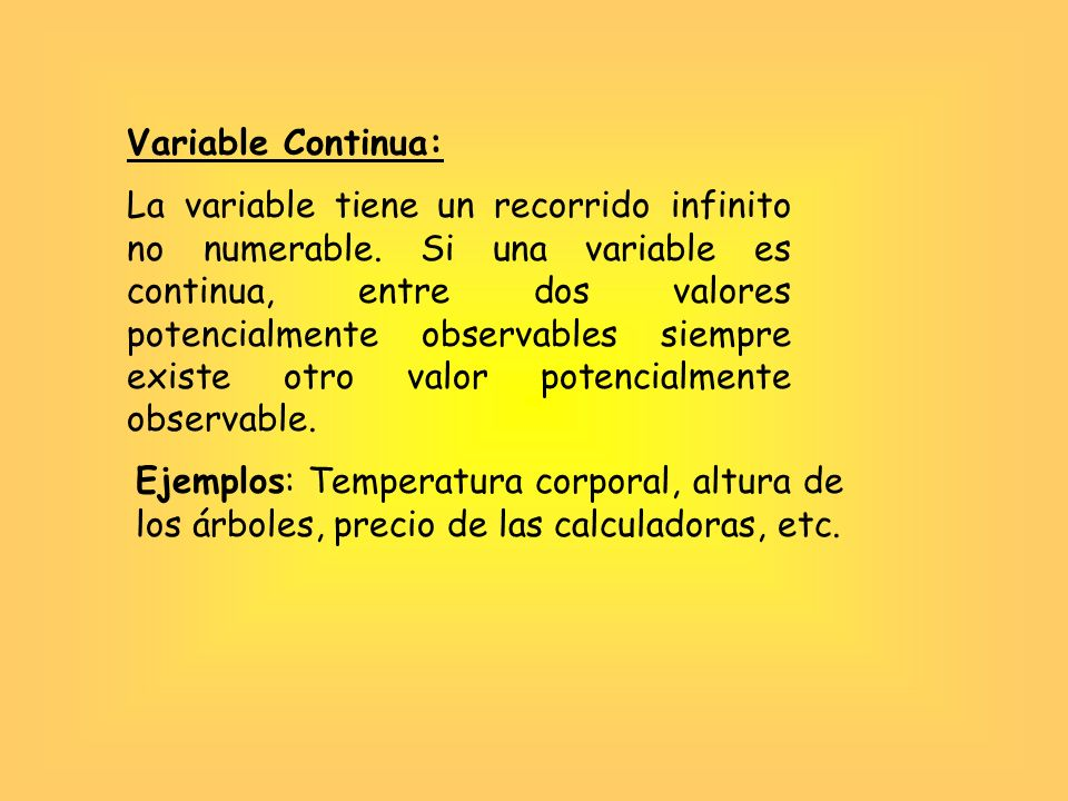 Variable Continua: