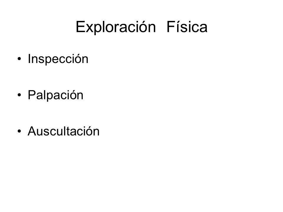 Exploración Física Inspección Palpación Auscultación