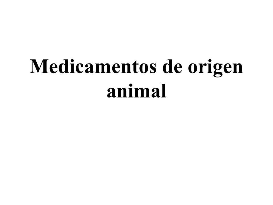 Medicamentos de origen animal