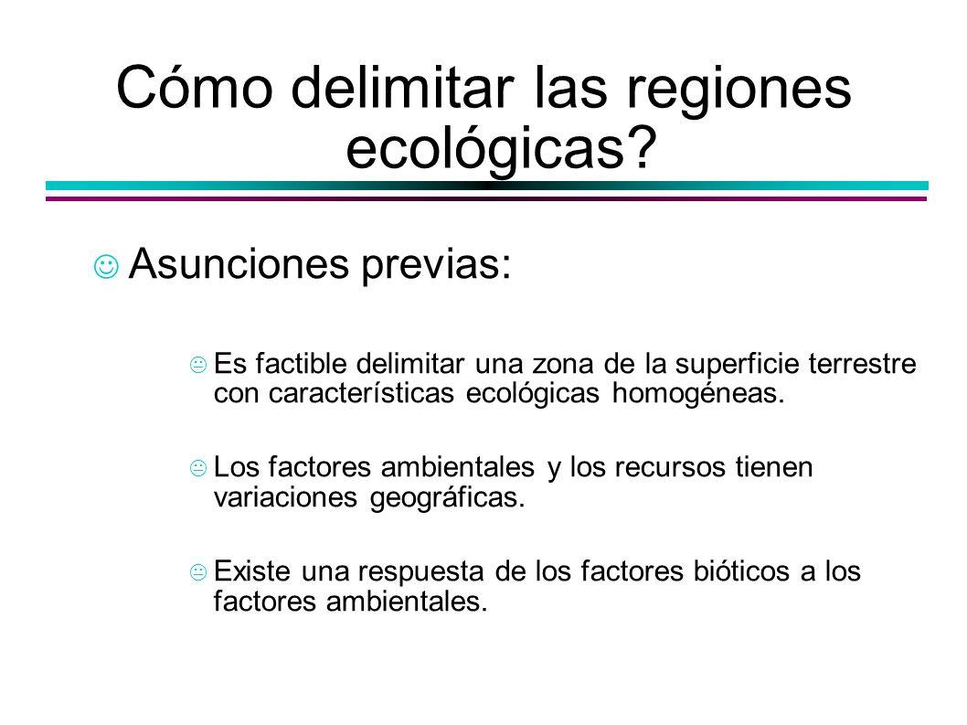 Cómo delimitar las regiones ecológicas