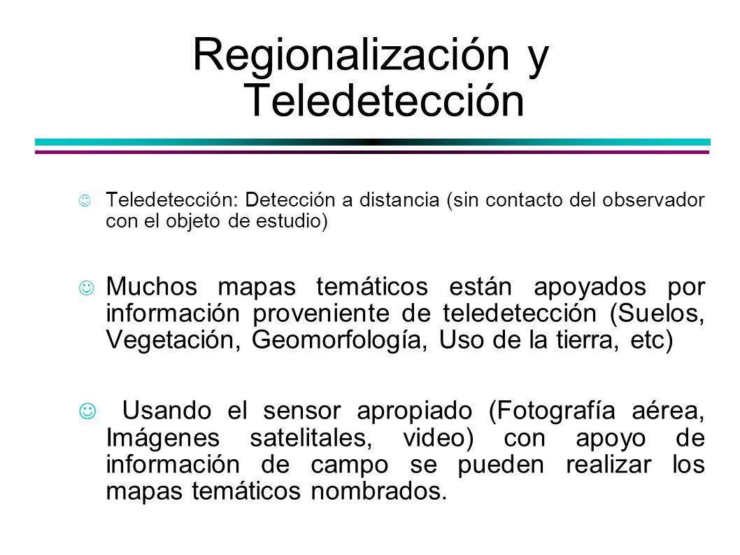 Regionalización y Teledetección