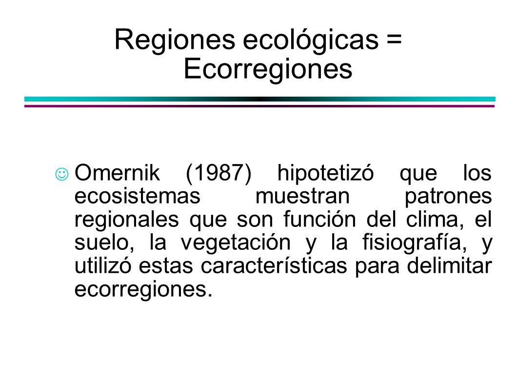 Regiones ecológicas = Ecorregiones