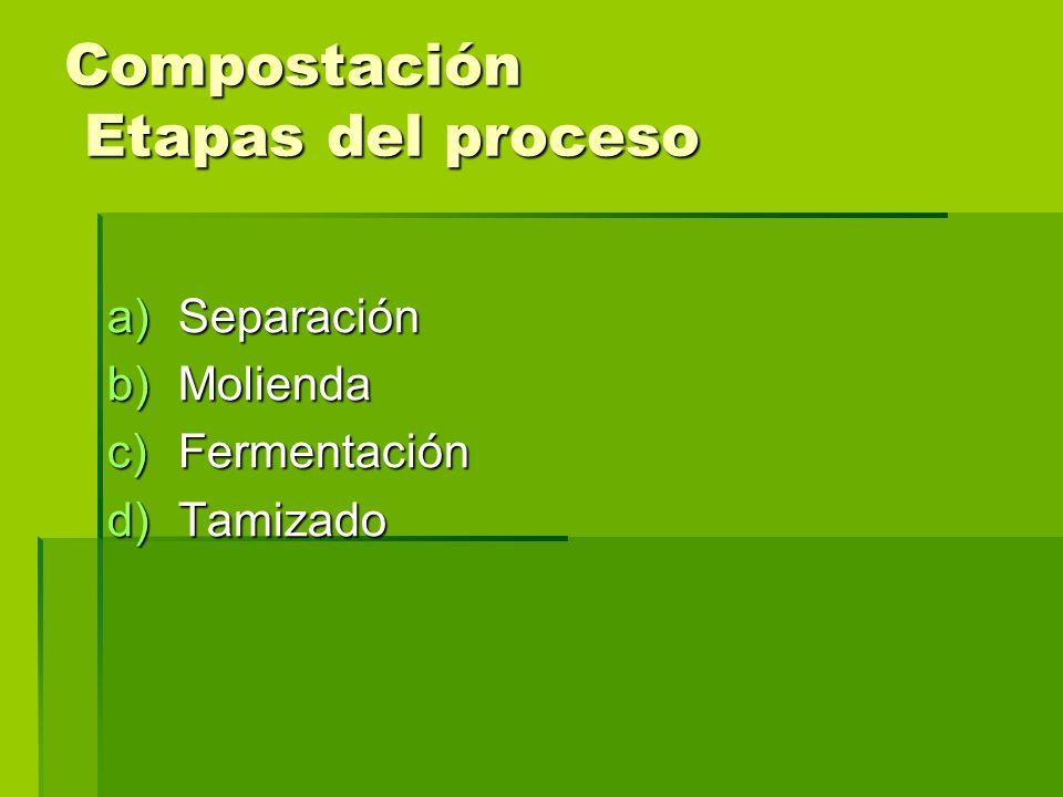 Compostación Etapas del proceso