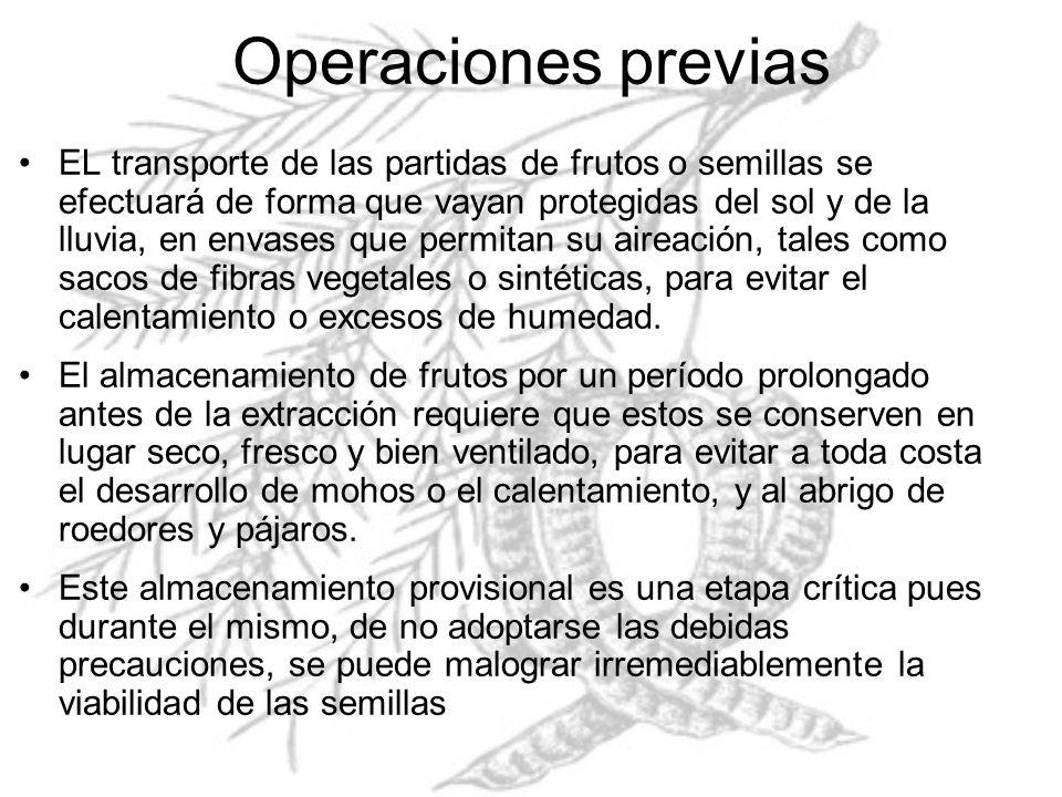 Operaciones previas