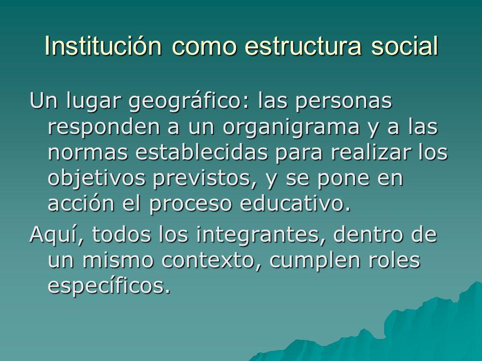 Institución como estructura social