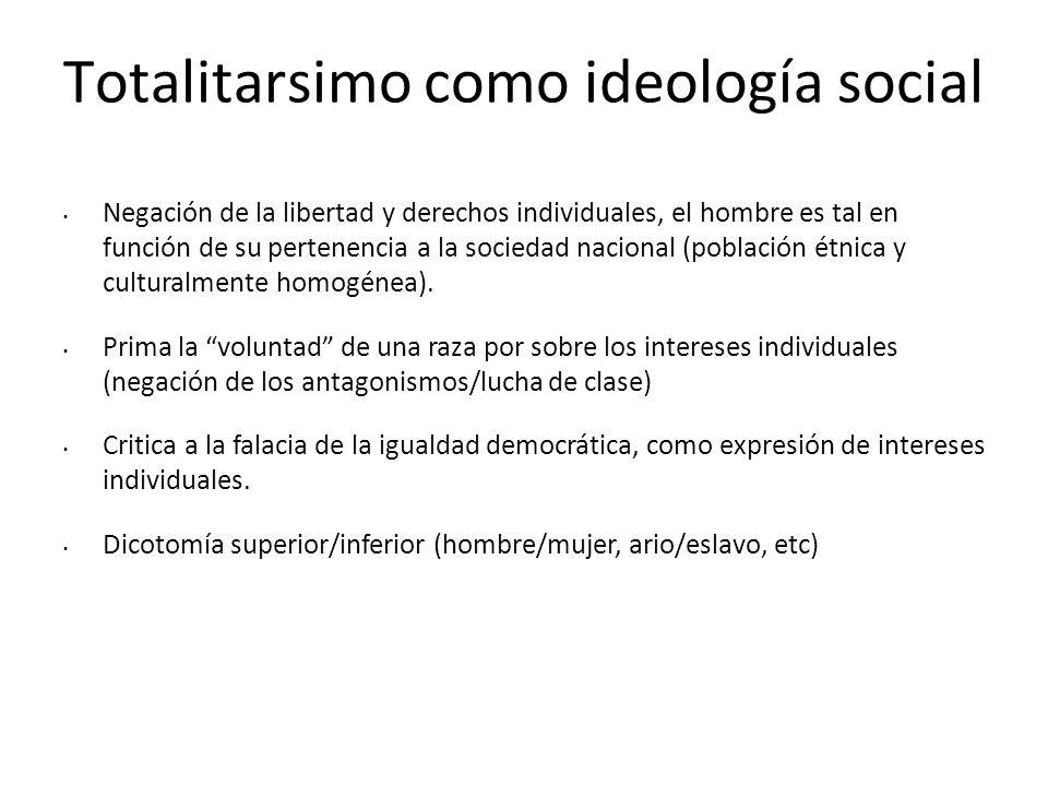 Totalitarsimo como ideología social